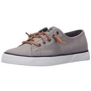 Sperry Top Sider Woman's Grey Canvas Shoes SZ 10
